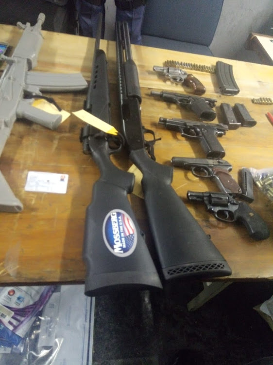 Police seized weapons in Khayelitsha (pictured) and in Wellington earlier this year.