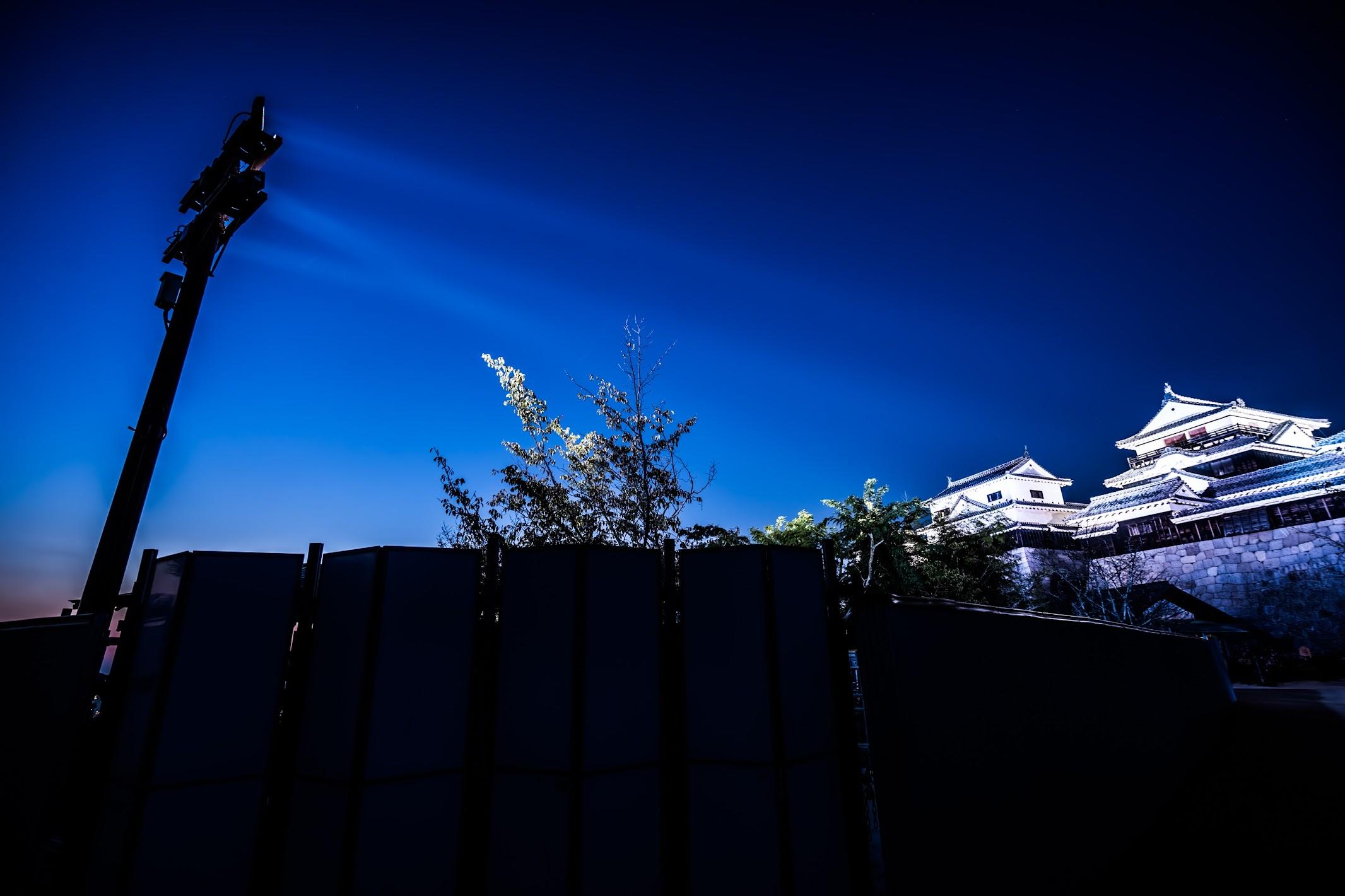 松山城 ライトアップ