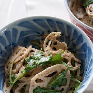 Lotus Root and Mizuna Salad.