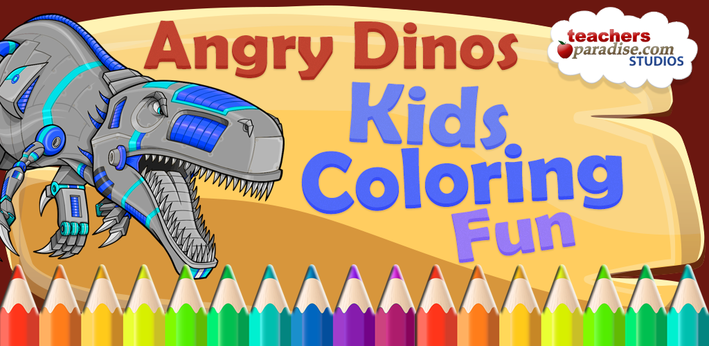 The Description Of Angry Dinos Kid Coloring Pages APK