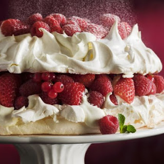 Meringue Gateau with Mixed Berries