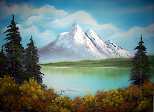 """Photo: 1806 Majestic Peaks. Oil on canvas. Frame: no. Price: 18"""" x 24"""" $149.00"""