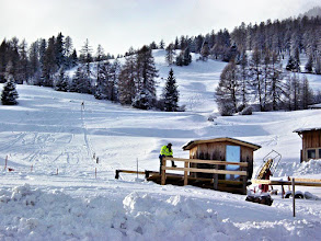 Photo: Stierva - wenig Betrieb am Skilift