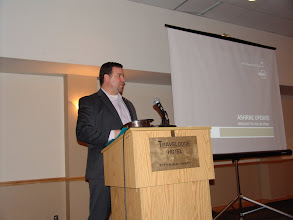 Photo: The theme for the evening was Research and RP Chair Stephen Lynch spoke about his campaign