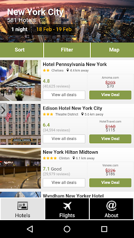 android New York Hotels and Flights Screenshot 0