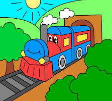 Coloring pages for children : transport