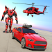 Police Helicopter Robot Car Transform Robot Games icon