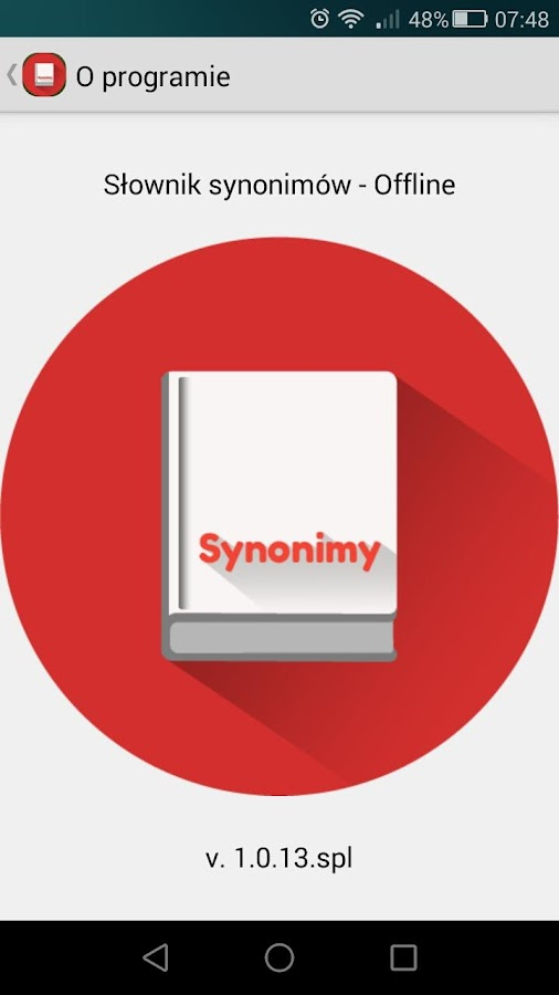 Synonimy Offline- screenshot
