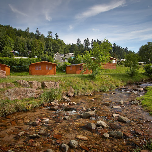 Camping in wooden cabins