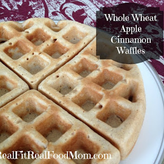 Whole Wheat Apple Cinnamon Waffles
