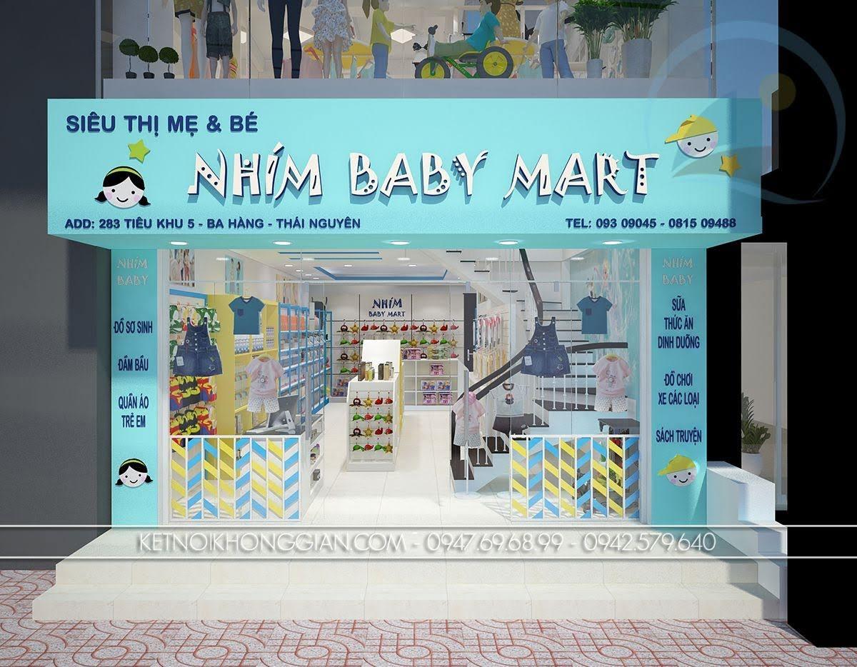 thiết kế siêu thị mẹ và bé cao cấp