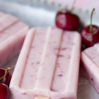 Cherry Vanilla Yogurt Pops Recipe