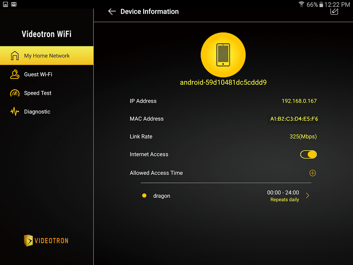 how to add a password to videotron wifi