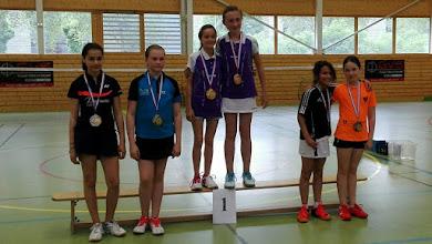 Photo: Championnat d'Alsace 2016 Double Dames Benjamins Médaille d'Argent: Alicia Feruzi