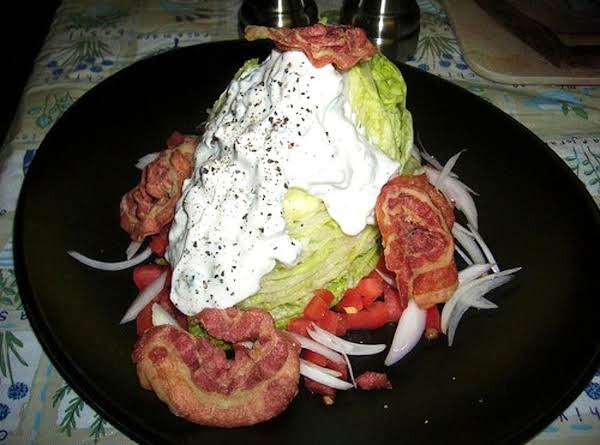Iceberg Wedge With Pancetta And Gorgonzola Dressing