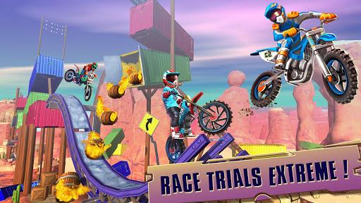 Code Triche course vélo d'essai: xtreme stunt bike jeux course APK MOD (Astuce) screenshots 5