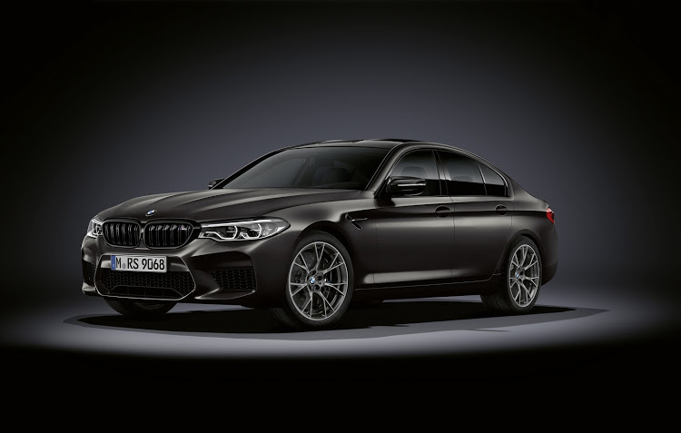 "M5 celebrates its 35th birthday with matt paint job and graphite grey 20"" wheels."