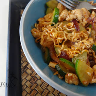 Chicken Ramen Noodles dressed up!.