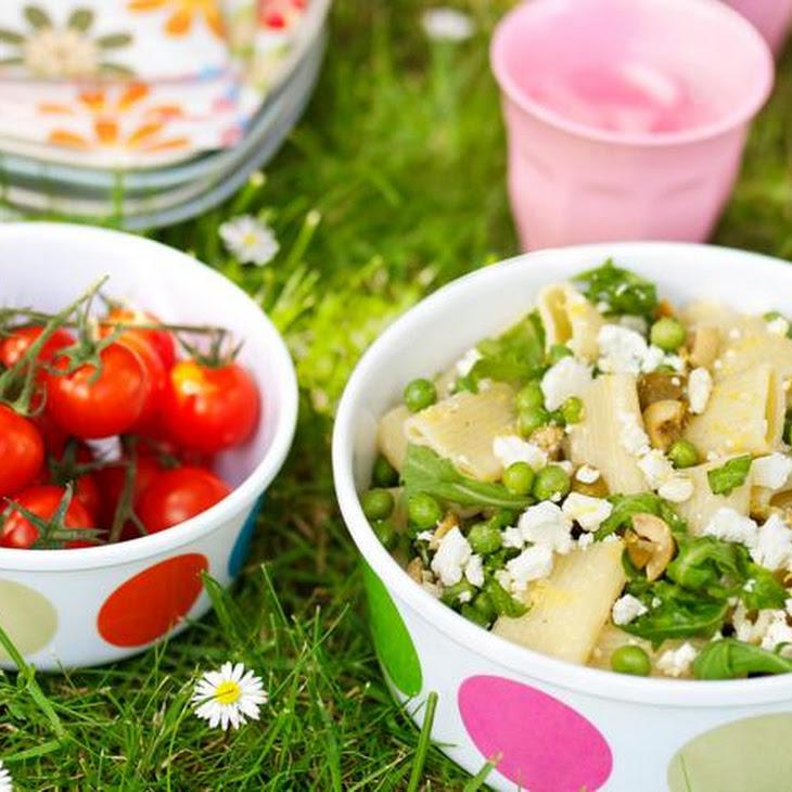 Feta, Rocket And Olive Pasta Salad