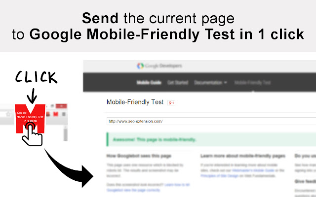 NEW Google Mobile Friendly Test Quick Access