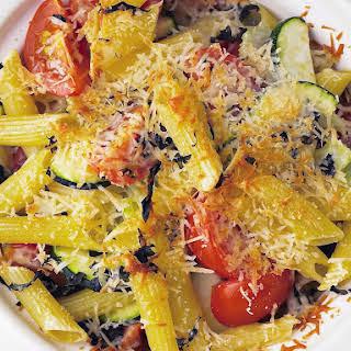 Zucchini, Tomato and Basil Pasta Casserole.