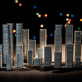 City staples by Luca Arșinel - Artistic Objects Other Objects ( staples, idea, city )