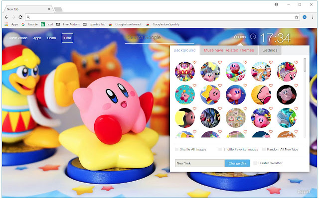 New Tab Themes With HD Kirby Wallpapers Made For Nintendo And Capcom Fans