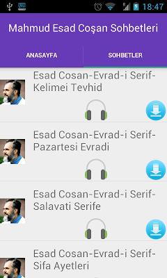 Mahmud  Esad Coşan Sohbetleri - screenshot