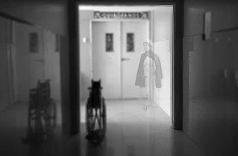 Representación de una enfermera fantasma