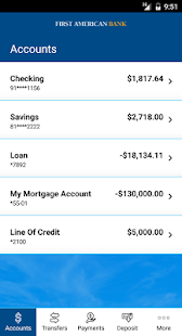 First American Bank Mobile- screenshot thumbnail