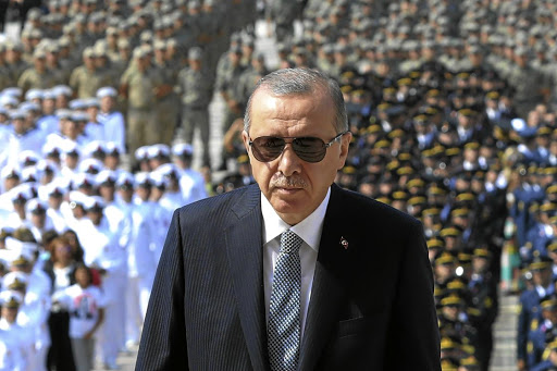 In a corner: Turkish President Recep Tayyip Erdogan secured more power after winning the presidential election in May. But Turkey is in economic turmoil and the rand has been hit by contagion from that country's problems. Picture: REUTERS