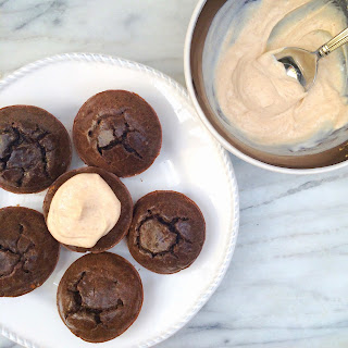 Sugar Free Peanut Butter Brownie Muffins