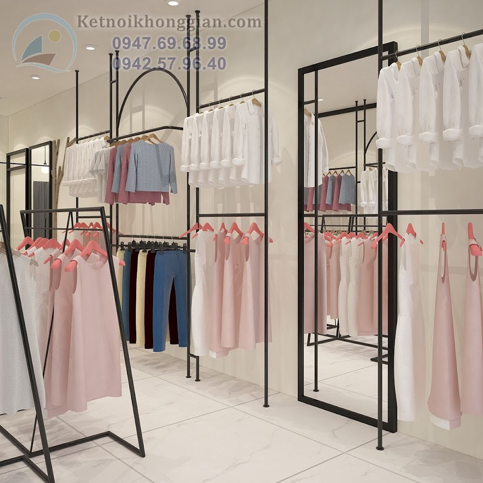 thiết kế shop thời trang công sở đẹp mắt