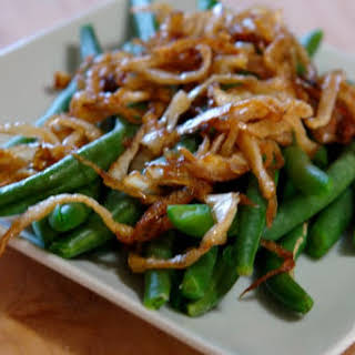 Green Beans with Caramelized Onions.