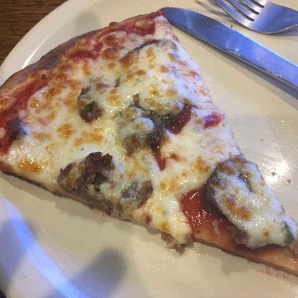 Meatball pizza.  It was even good cold!