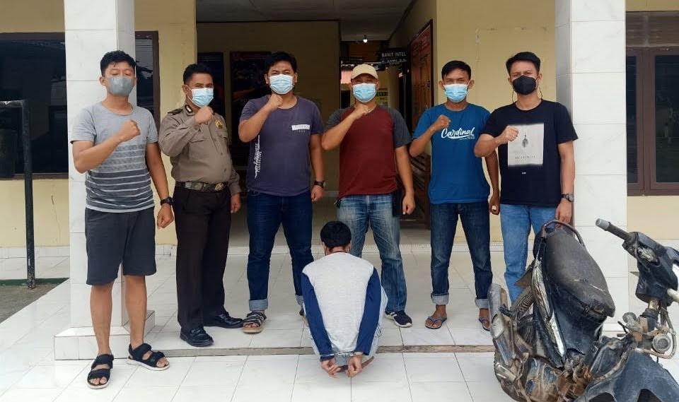 Polsek Penawartama Tangkap Pelaku Curanmor Yang Beraksi di Parkiran Masjid