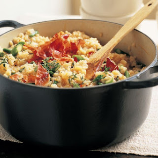 Oven-baked Risotto With Prosciutto And Fontina.