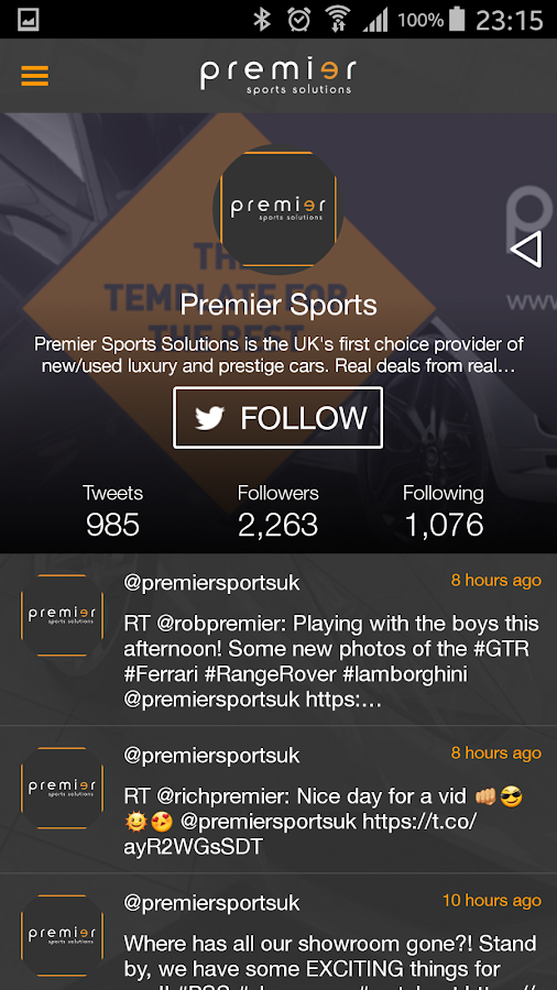 Premier Sports Solutions- screenshot