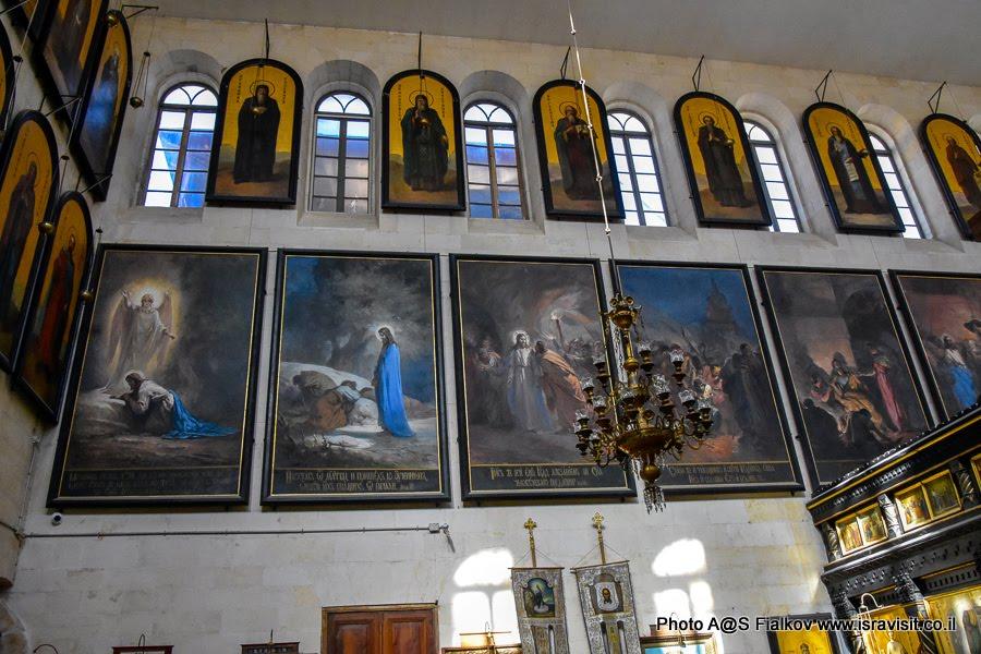 Картины Н.Кошелева о скорбном пути Иисуса Христа. Русское подворье Александра Невского в Иерусалиме.