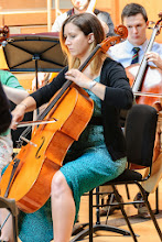 Photo: Aisha Bove leading the cello section in the lunchtime concert on day four of Summer Music Week. Image: Ranjit Pender