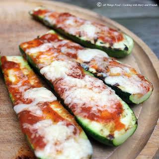 Grilled Pizza Zucchini Boats.