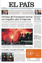 Photo: Víctimas del franquismo, ante el Supremo y decenas de muertos en un partido en Egipto, en portada http://www.elpais.com/static/misc/portada20120202.pdf