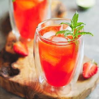 Non-Alcoholic Paleo Strawberry Mojito.