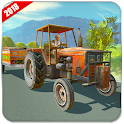 Tractor Driving Farm Sim : Tractor Trolley Game icon