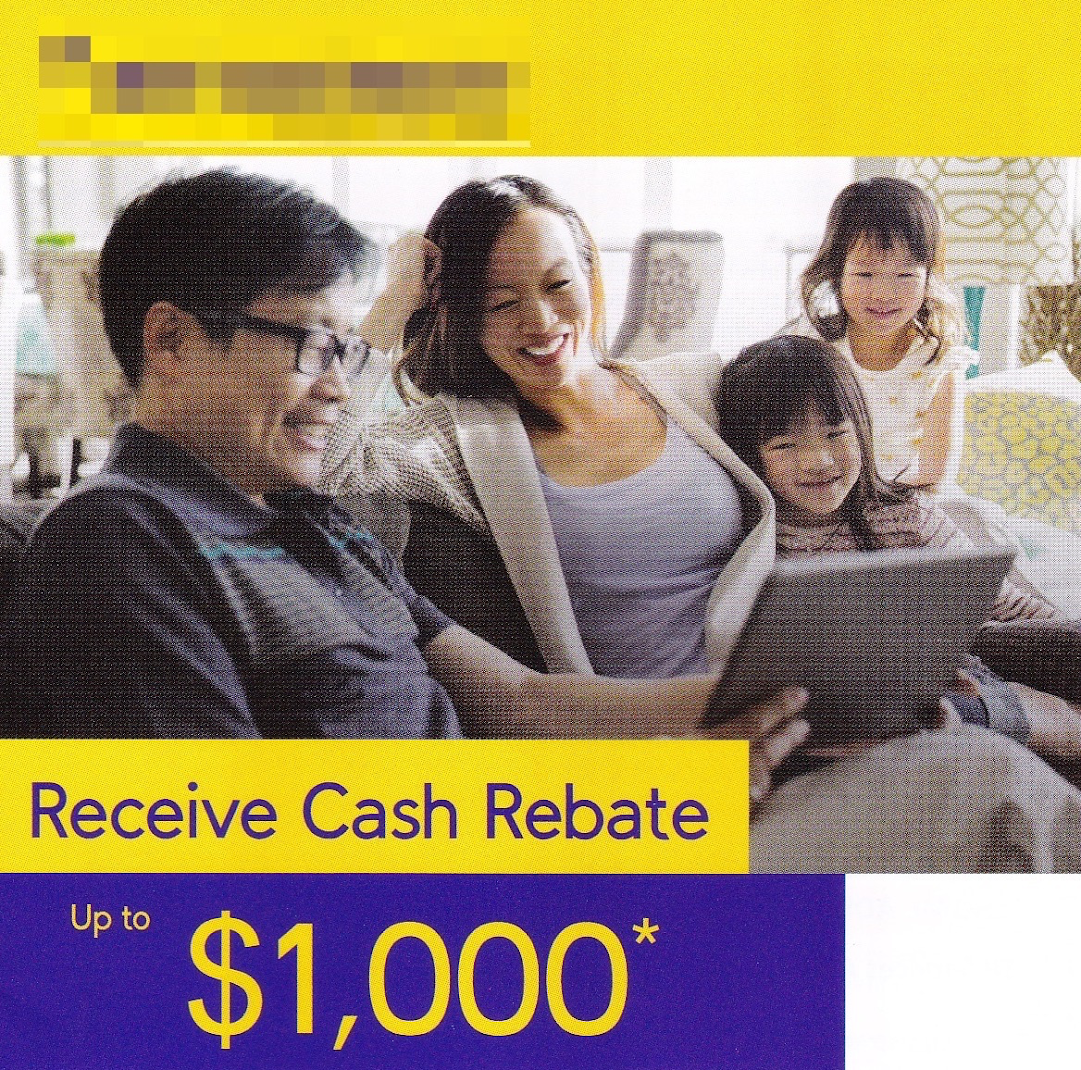 Cash rebate on electricity.