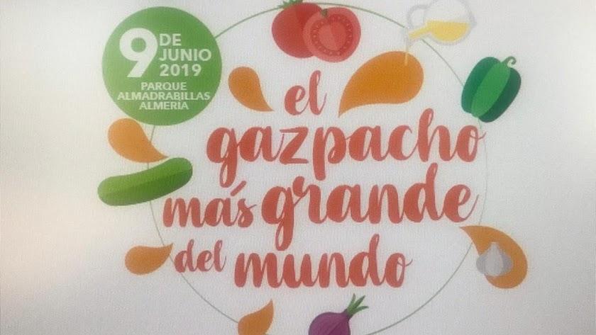 """Record Solidario \""""El gazpacho más grande del mundo\"""" a favor de ANDA."""