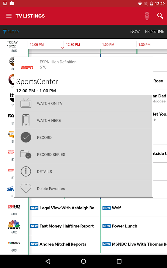Verizon FiOS Mobile- screenshot