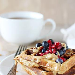 Peanut Butter Banana Bread Waffles