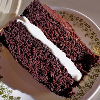 Triple Chocolate Fudge Cake.