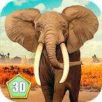 African Elephant Simulator 3D Icon